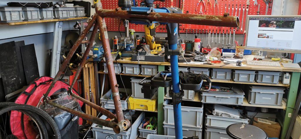 Construction dun cargobike sur mesure - Atelier Veloroule Genève